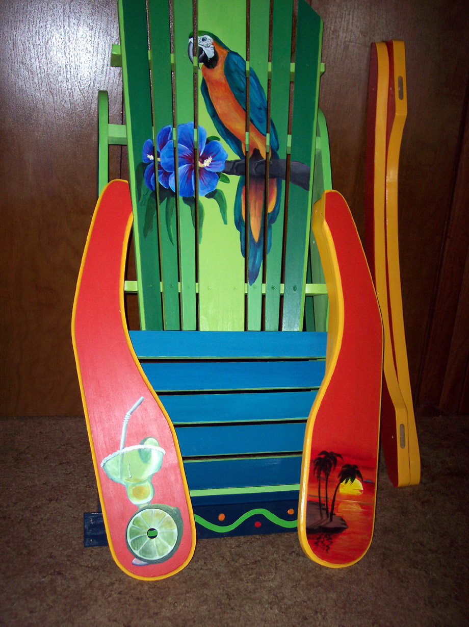 how to paint wood adirondack chair